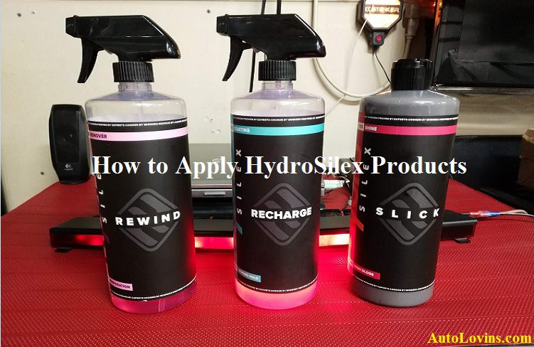 How to Apply HydroSilex Products