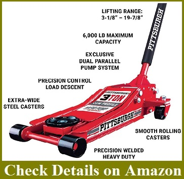 Pittsburgh Automotive 3 Ton Heavy Duty Steel Floor Jack