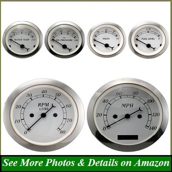 MOTOR METER RACING 6 Gauge Set Classic Instruments